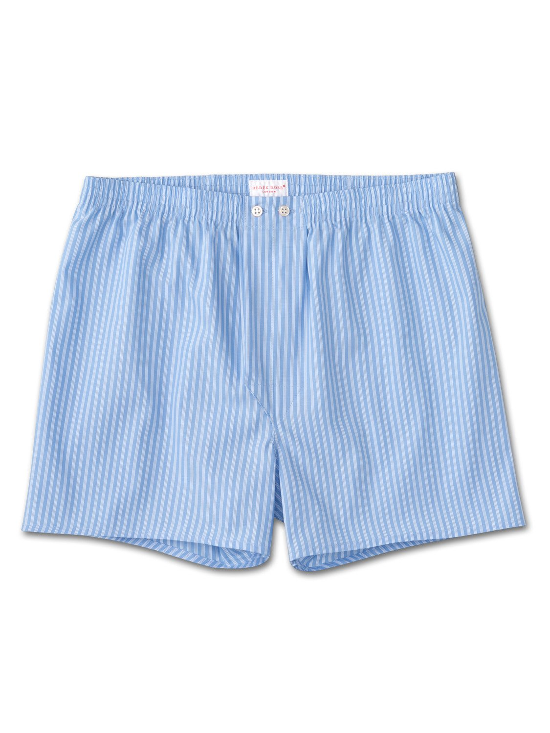 Men's Classic Fit Boxer Shorts Jermyn Pure Cotton Stripe Blue-White