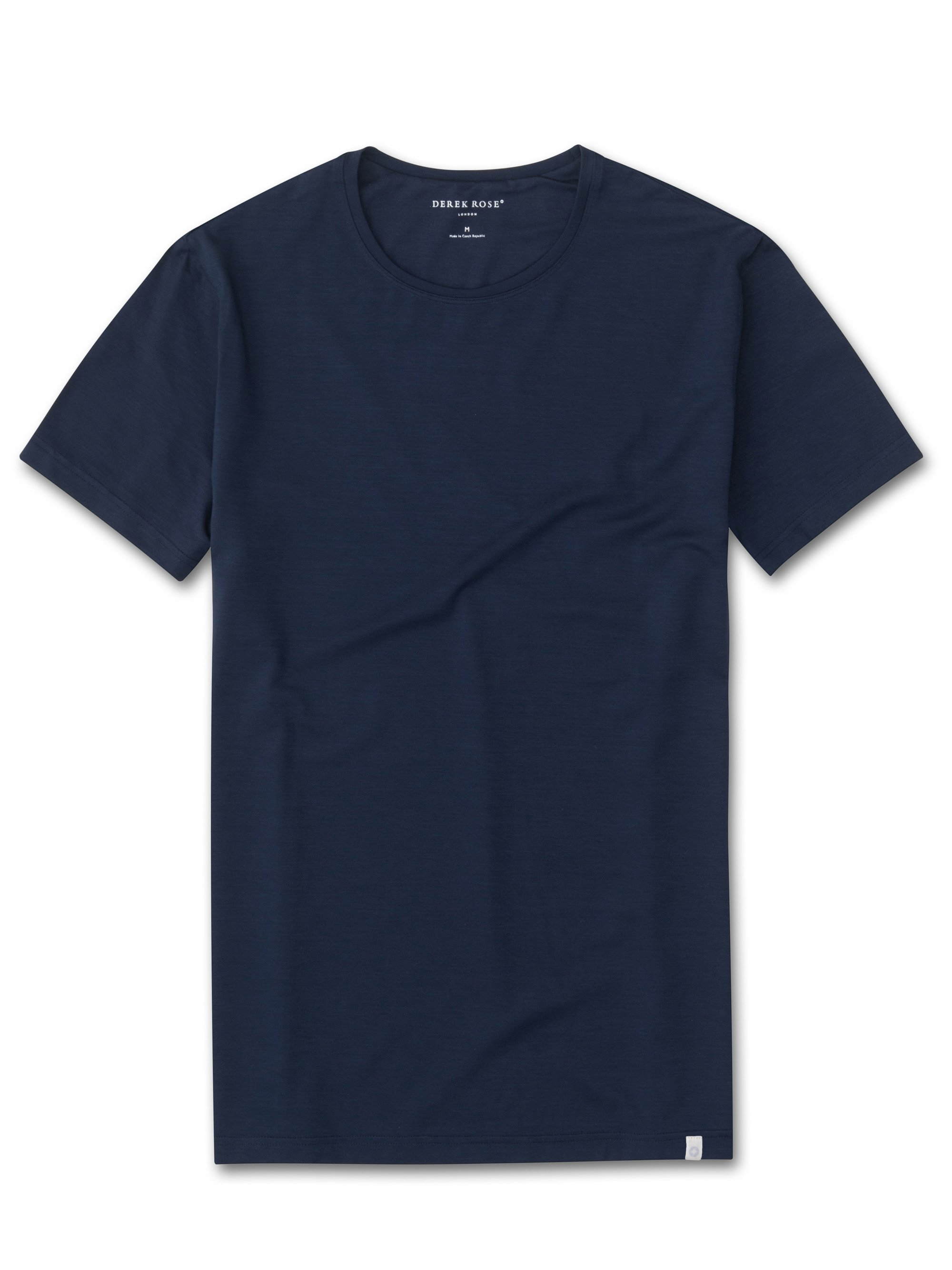 Men's Short Sleeve T-Shirt Basel Micro Modal Stretch Navy