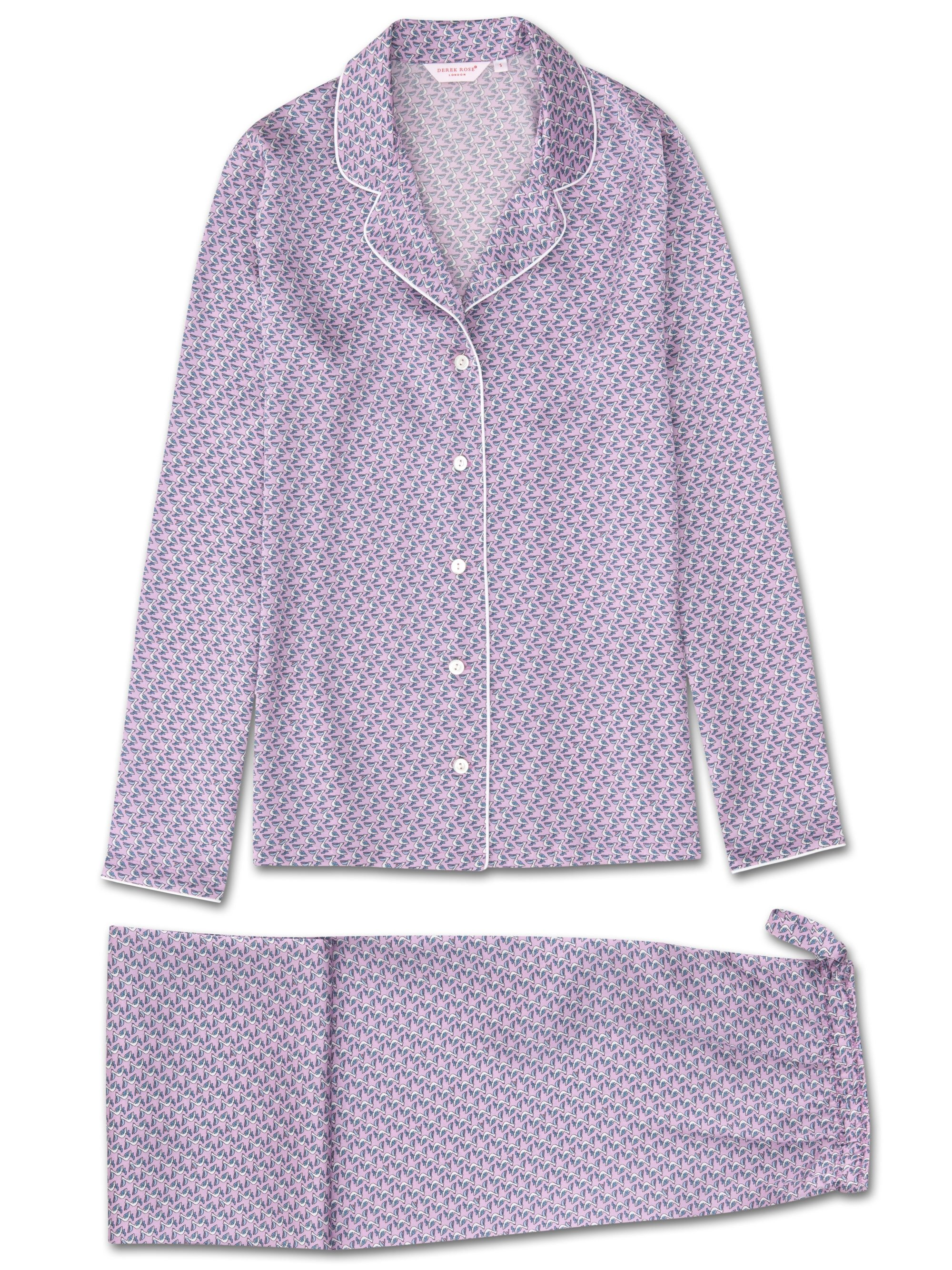 Women's Pyjamas Brindisi 32 Pure Silk Satin Lilac