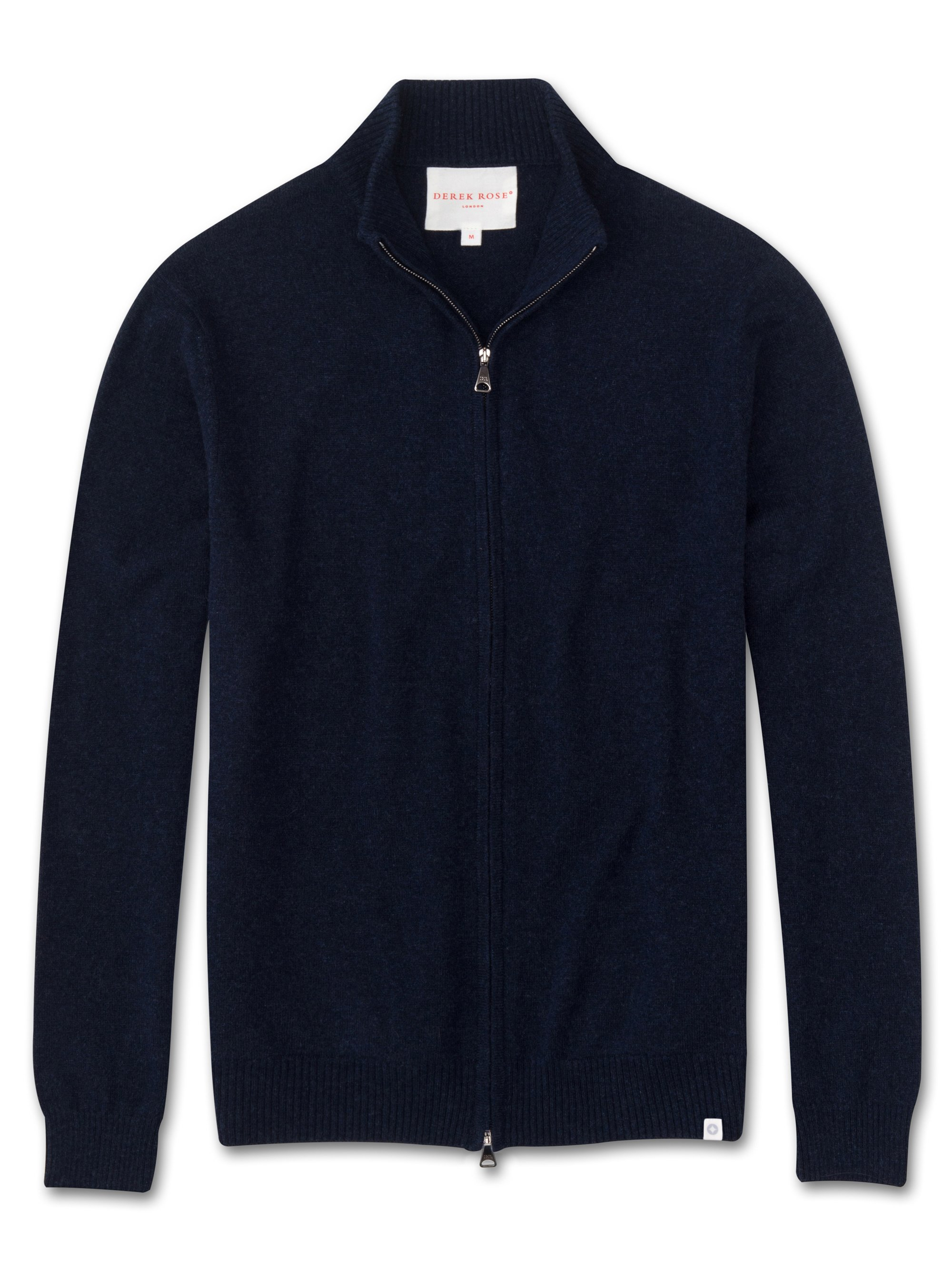 Men's Cashmere Zip-Up Top Finley Pure Cashmere Midnight