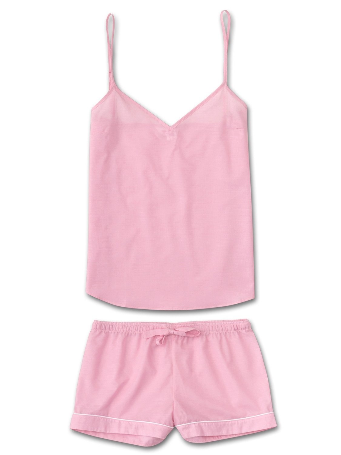 Women's Cami Short Pyjama Set Amalfi Cotton Batiste Rose