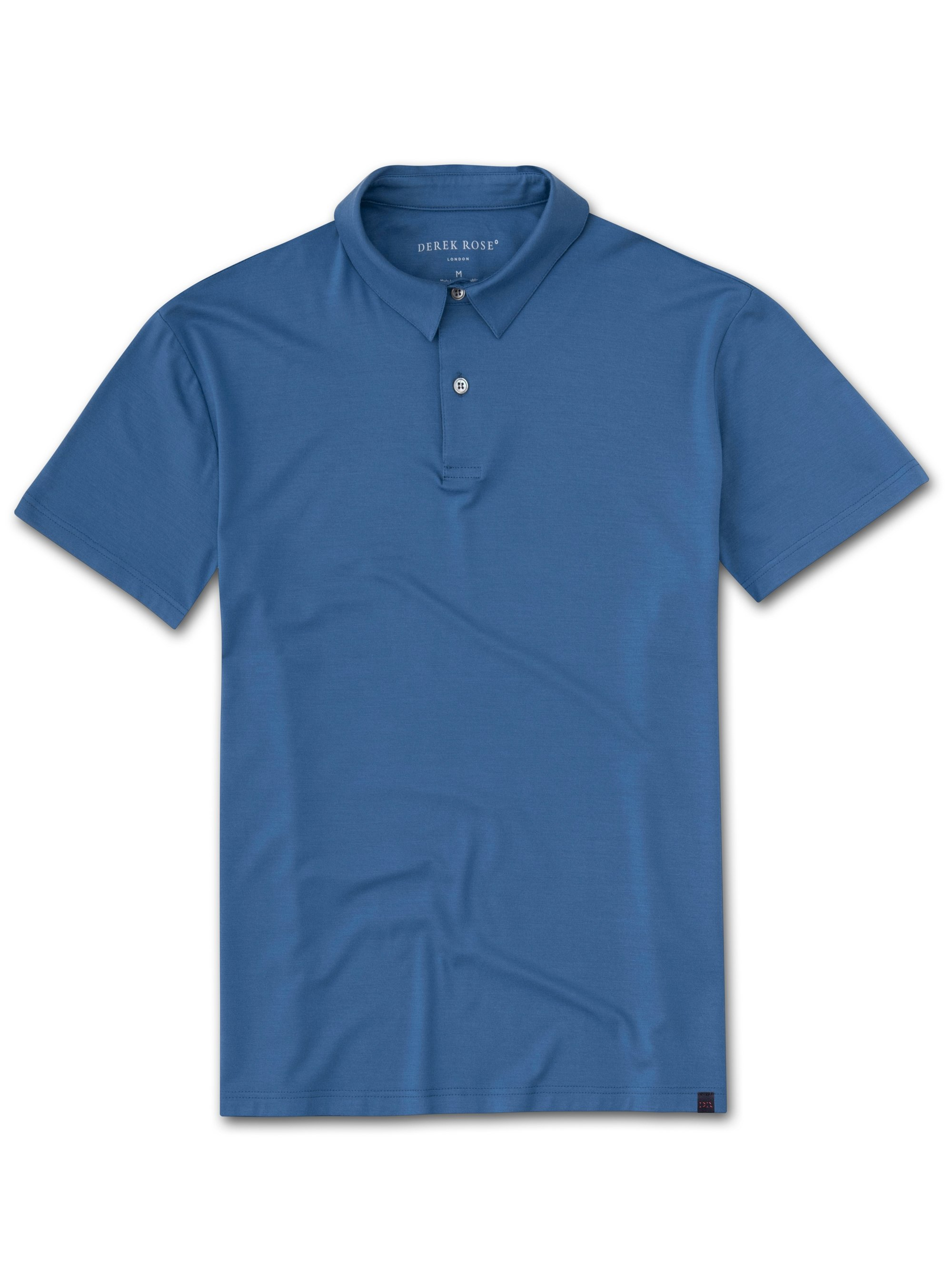 Men's Short Sleeve Polo Shirt Basel 9 Micro Modal Stretch Blue