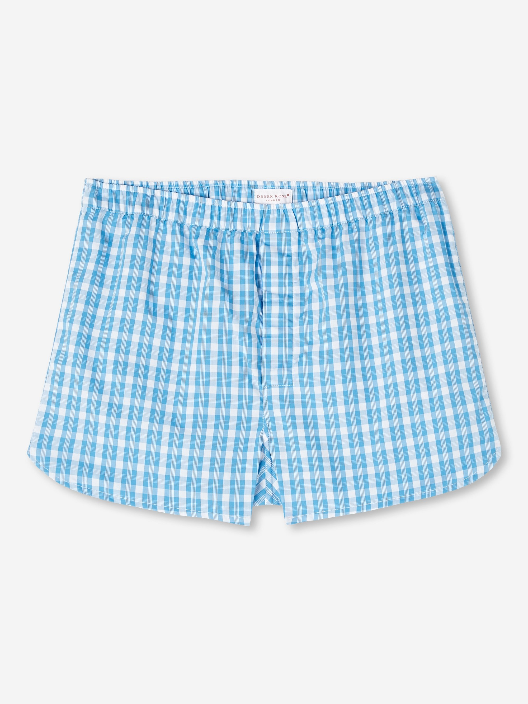 Men's Modern Fit Boxer Shorts Barker 29 Cotton Check Blue