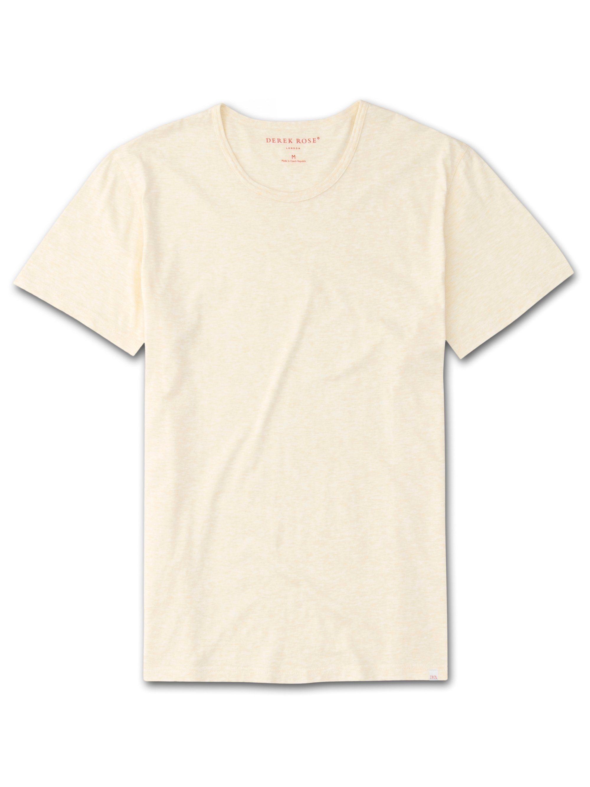 Men's Short Sleeve T-Shirt Reece Pure Cotton Yellow