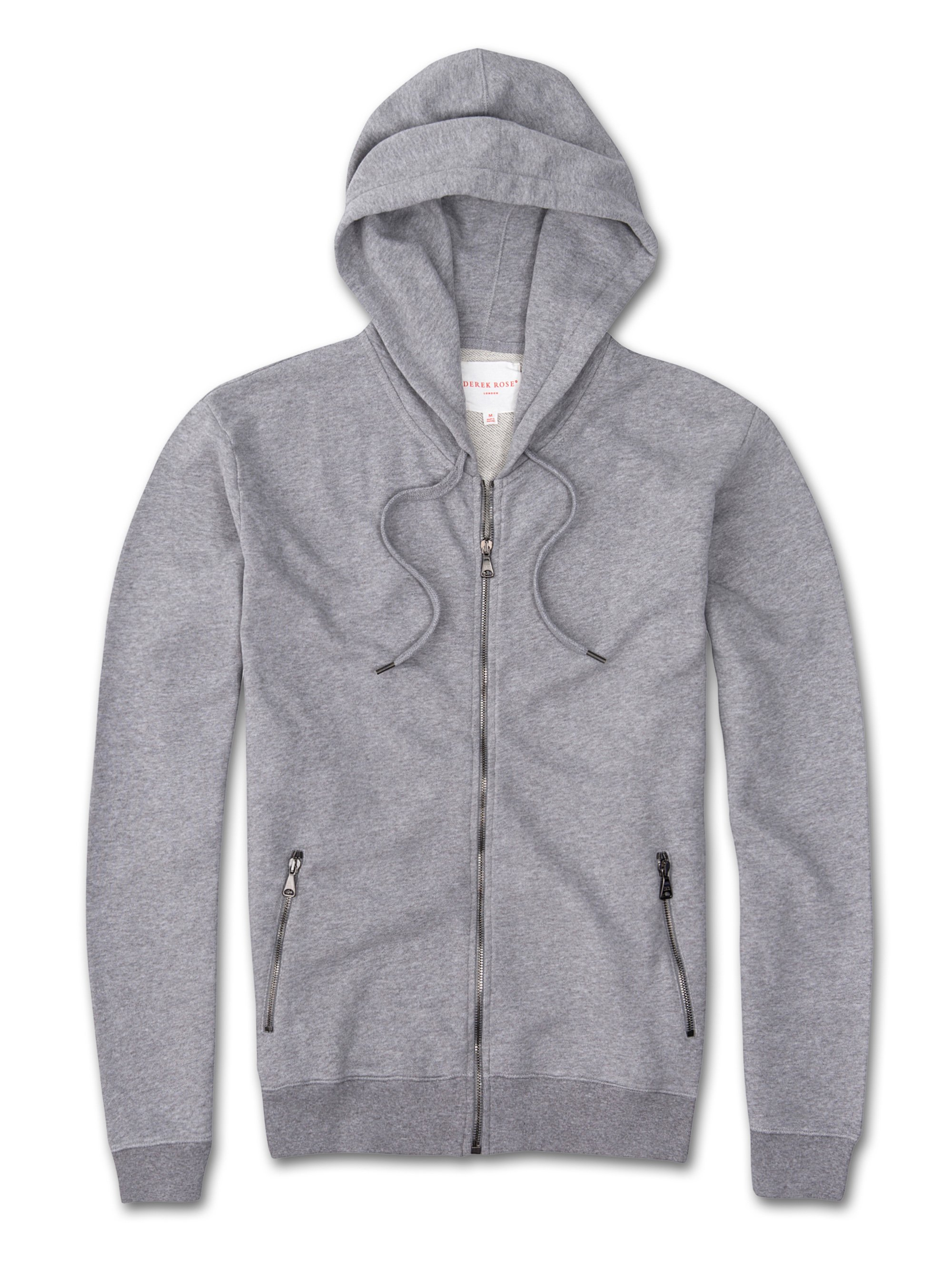 Men's Hoodie Devon Loopback Cotton Silver