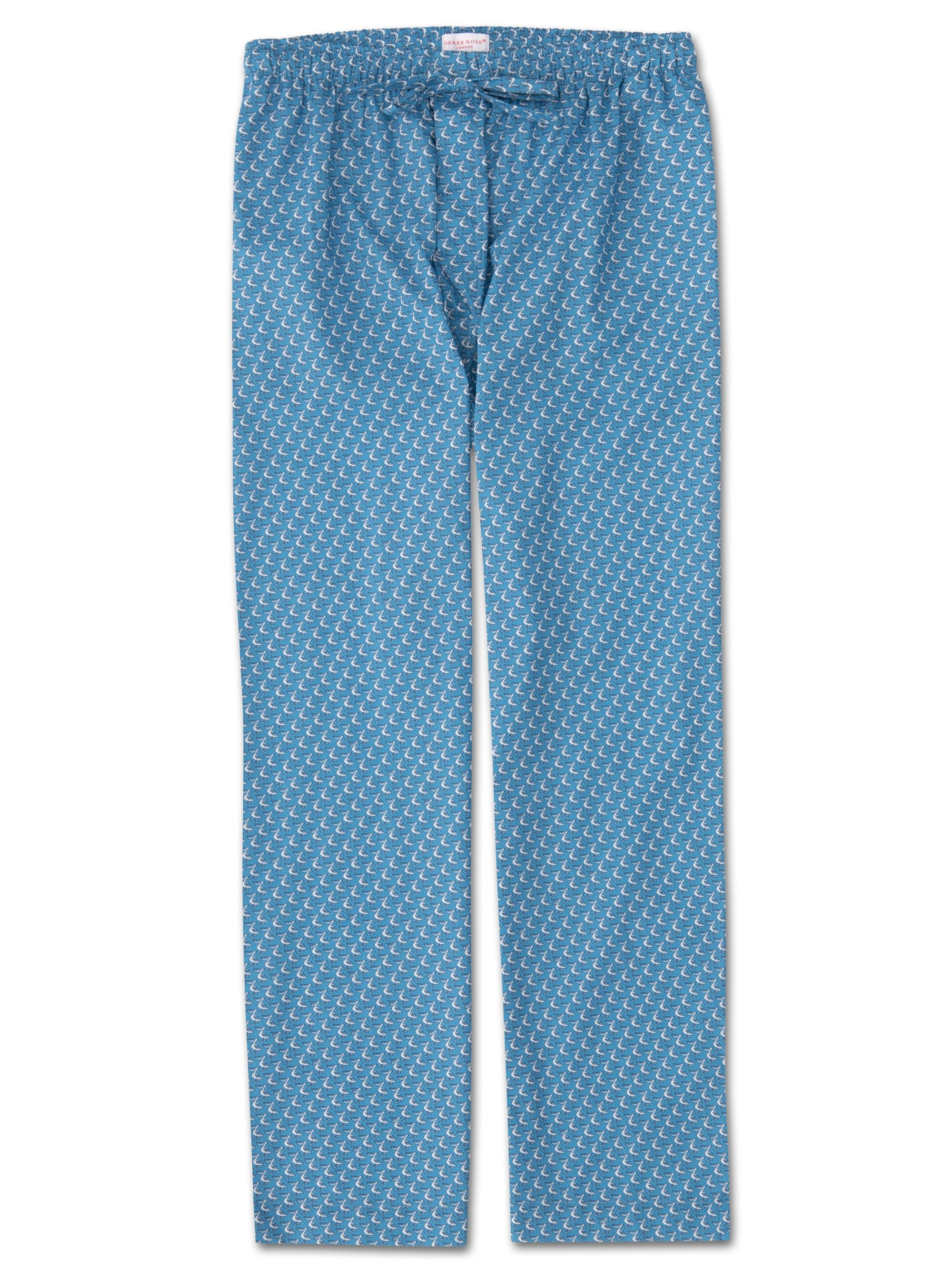 Men's Lounge Trousers Ledbury 16 Cotton Batiste Blue