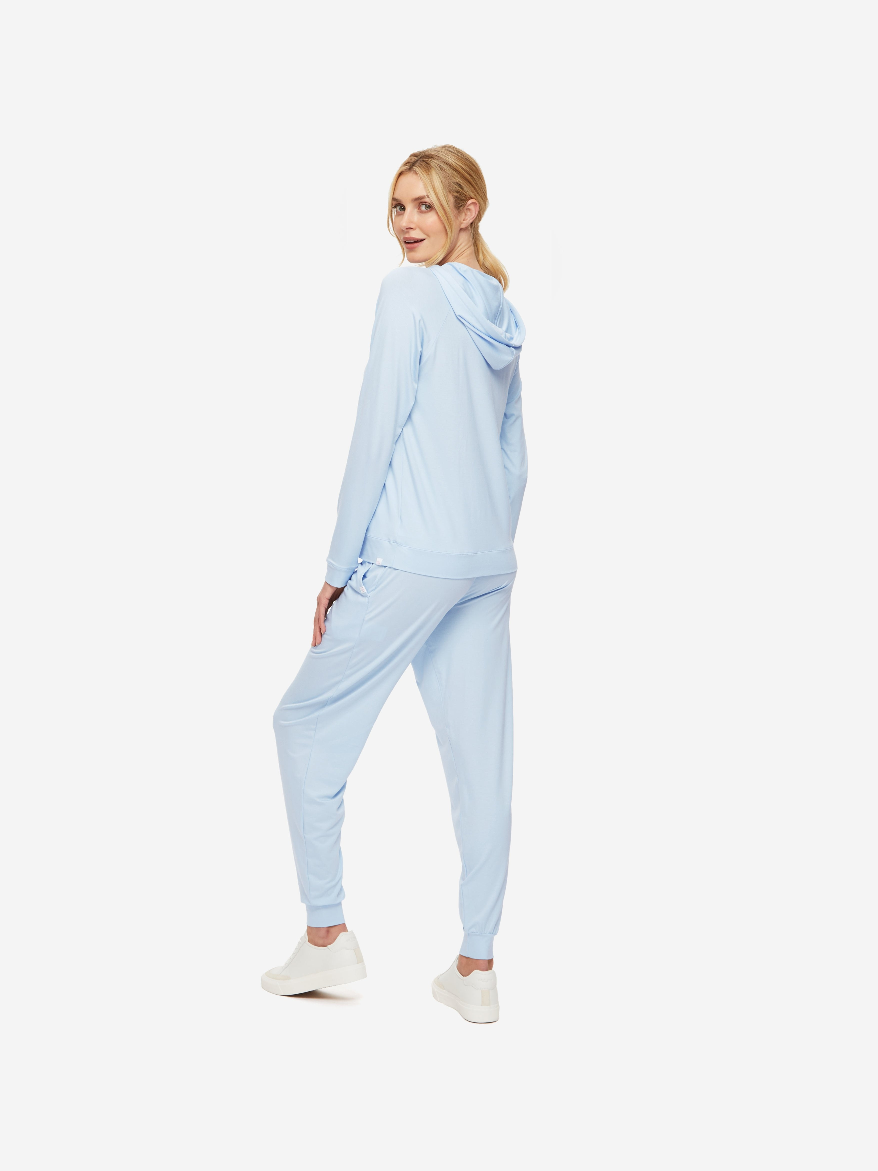 Women's Pullover Hoodie Basel 10 Micro Modal Stretch Sky