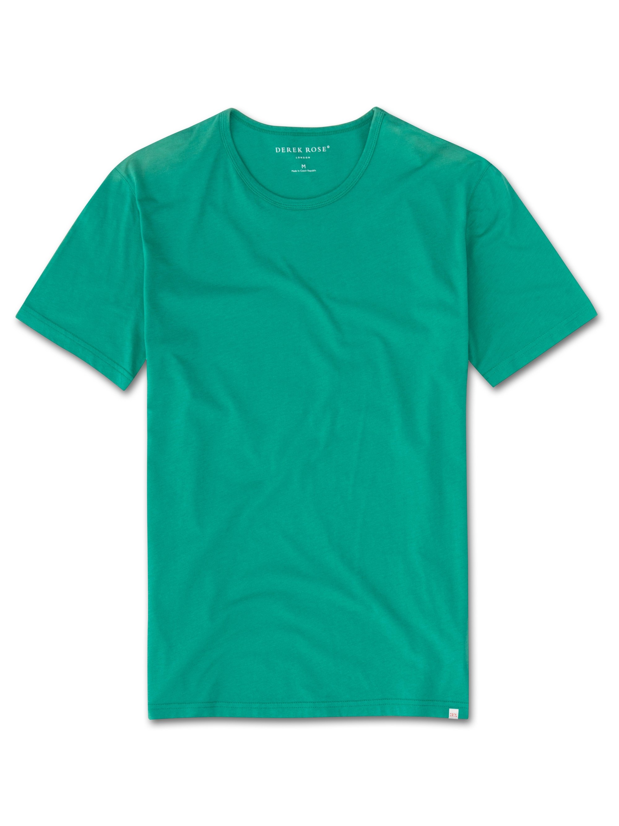 Men's Short Sleeve T-Shirt Riley Pima Cotton Green