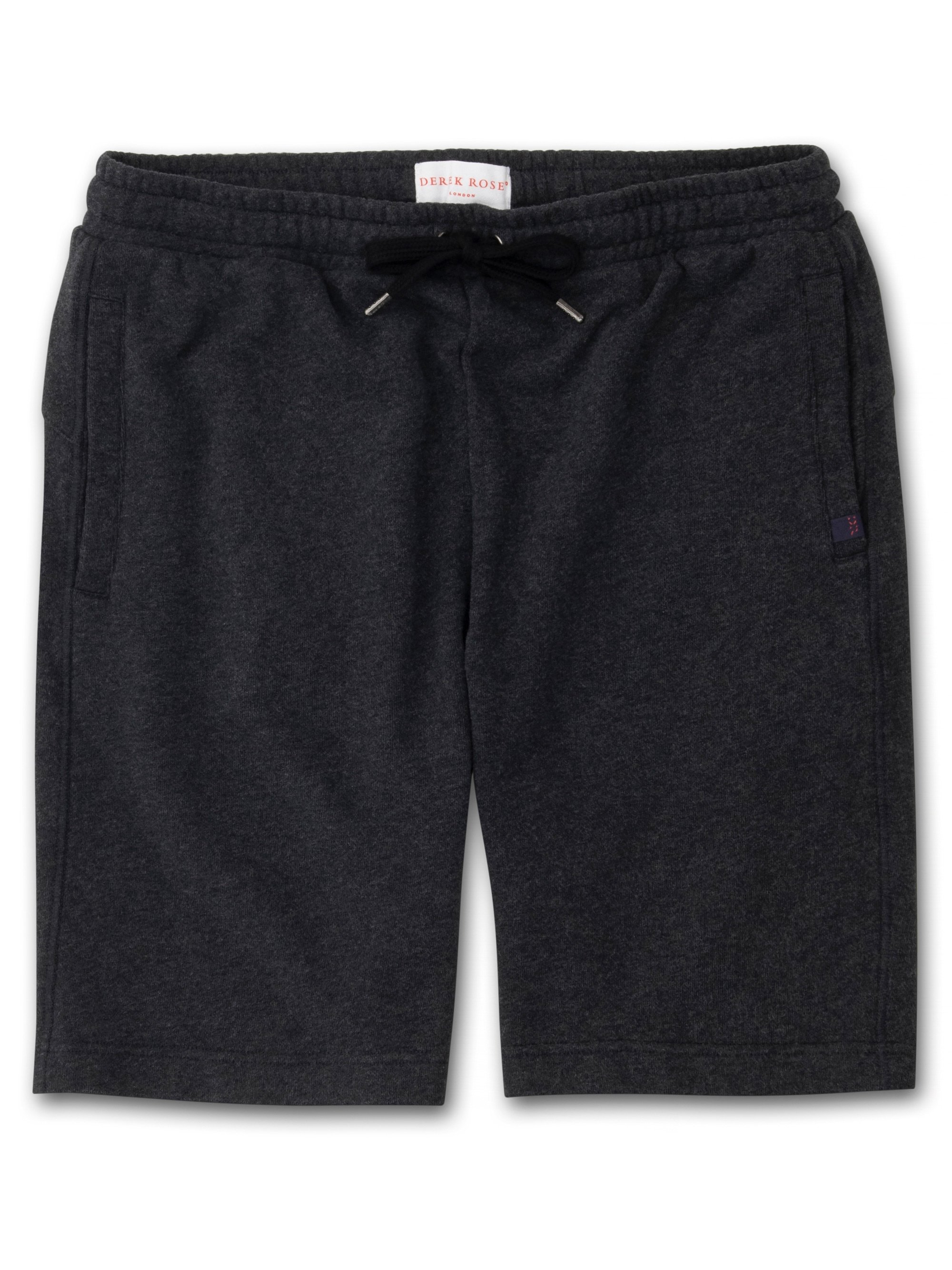 Men's Sweat Shorts Devon Loopback Cotton Charcoal