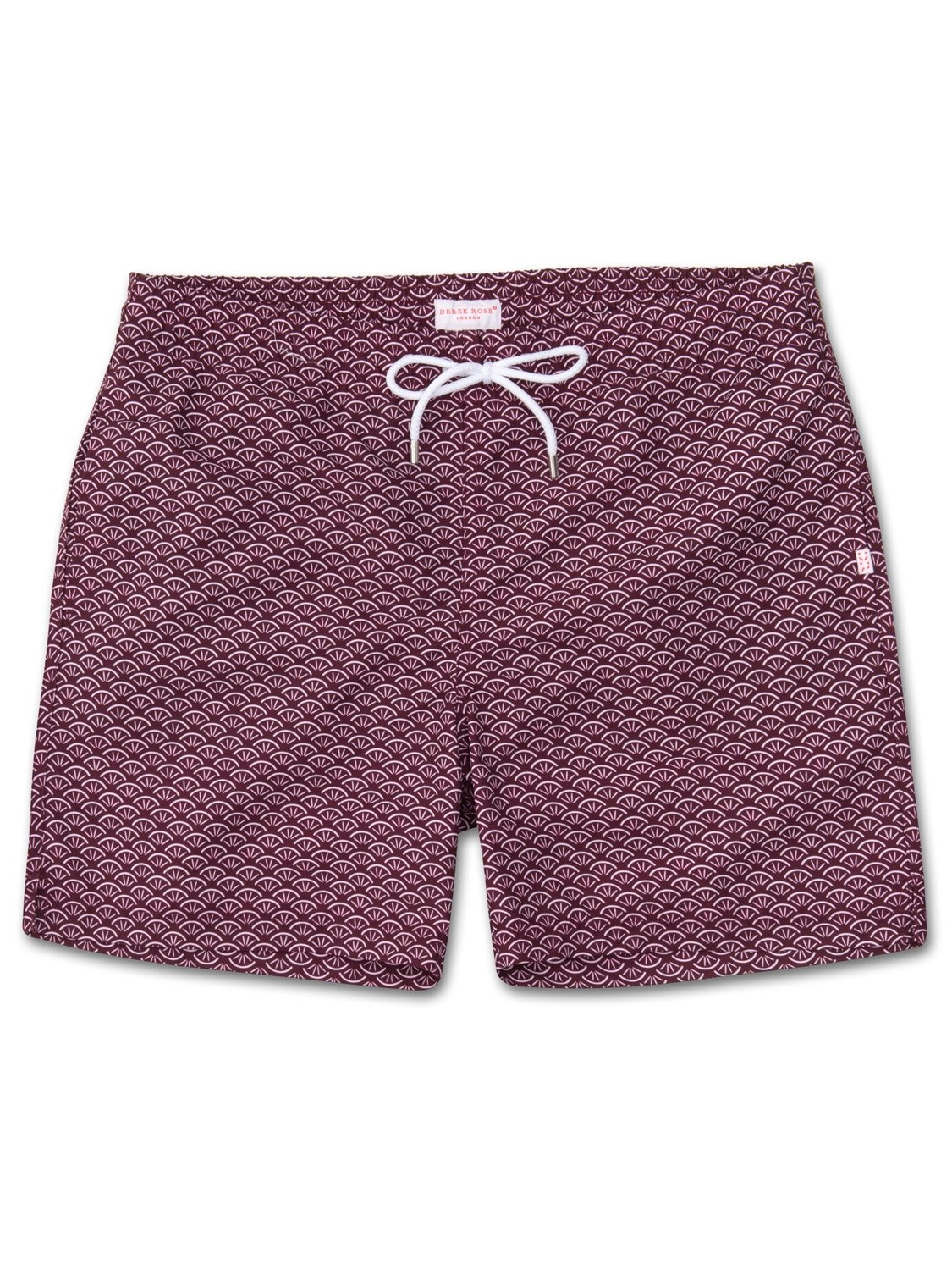 Men's Classic Fit Swim Shorts Tropez 3 Burgundy