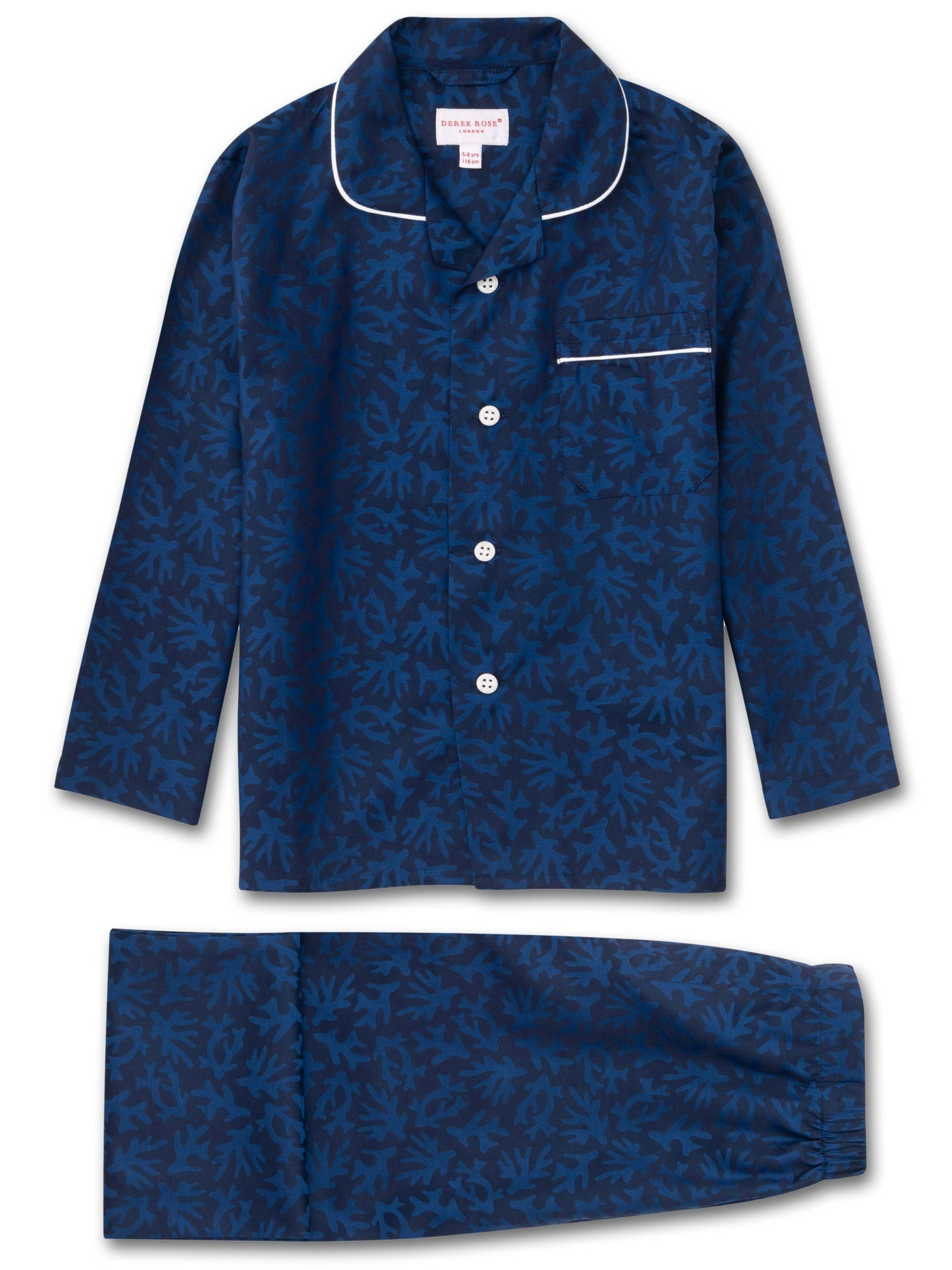 Kids' Pyjamas Paris 16 Cotton Jacquard Navy