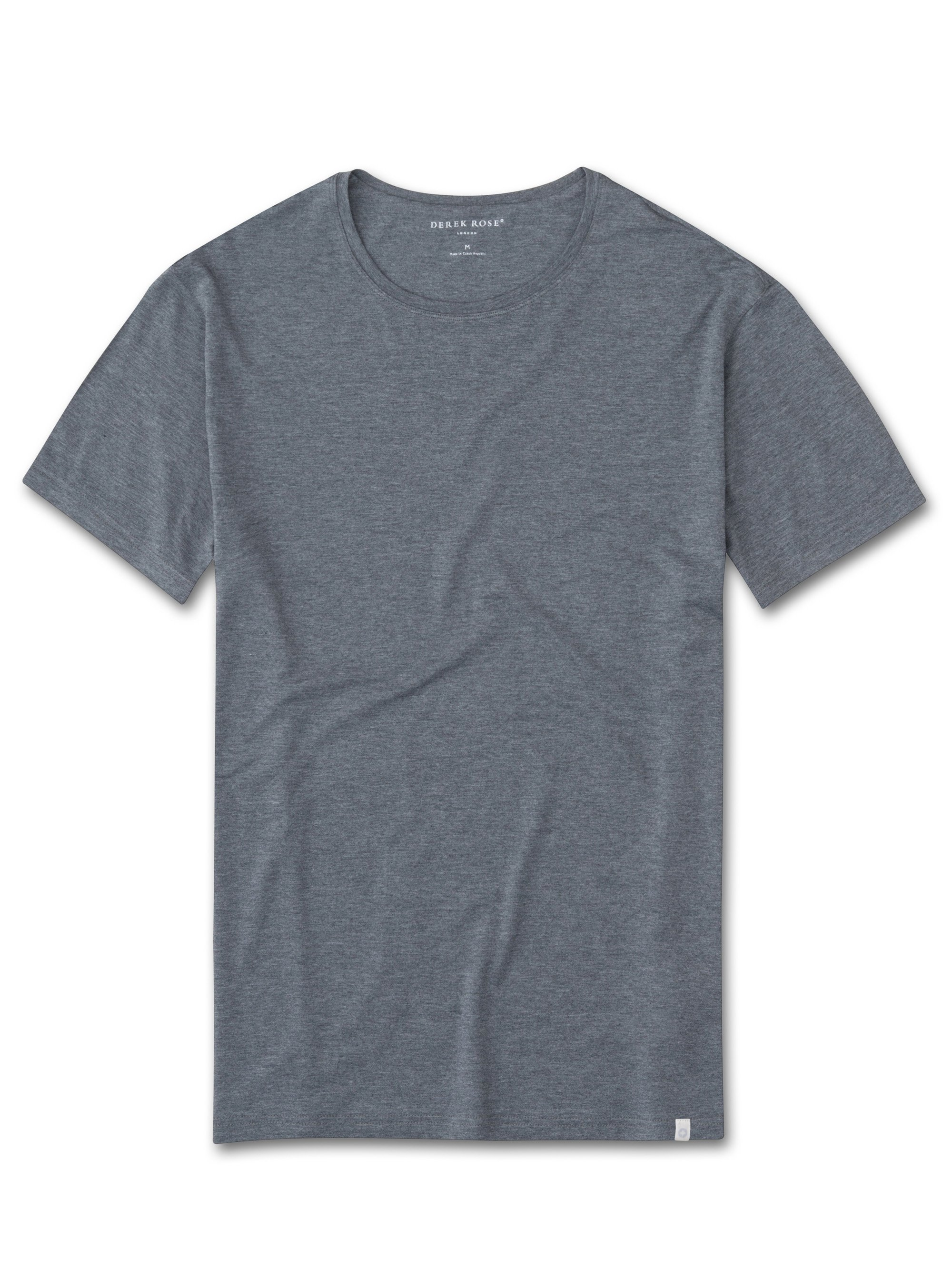 Men's Short Sleeve T-Shirt Marlowe Micro Modal Stretch Charcoal