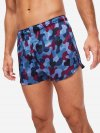 Men's Modern Fit Boxer Shorts Brindisi 56 Pure Silk Satin Navy