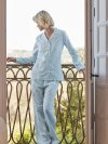 Women's Pyjamas Capri 16 Pure Cotton Green