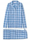 Women's Pyjamas Ranga 30 Cotton Check Blue