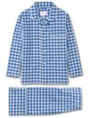 Kids' Pyjamas Barker 26 Cotton Check Blue
