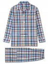 Men's Classic Fit Pyjamas Barker 25 Cotton Check Multi
