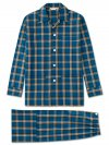 Men's Classic Fit Pyjamas Barker 23 Pure Cotton Check Multi