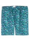 Men's Lounge Shorts Ledbury 19 Cotton Batiste Green
