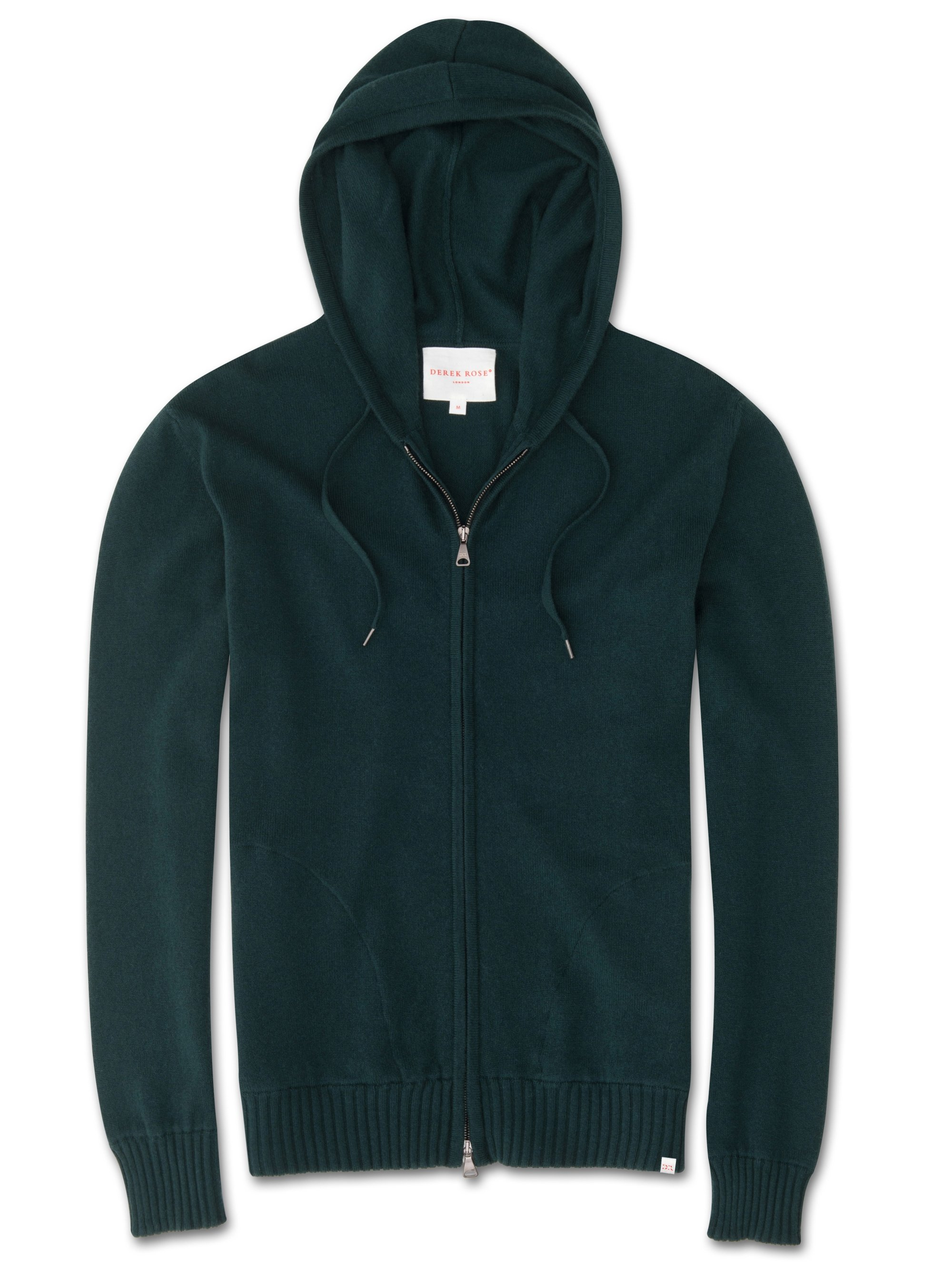 Men's Cashmere Hoodie Finley Pure Cashmere Green
