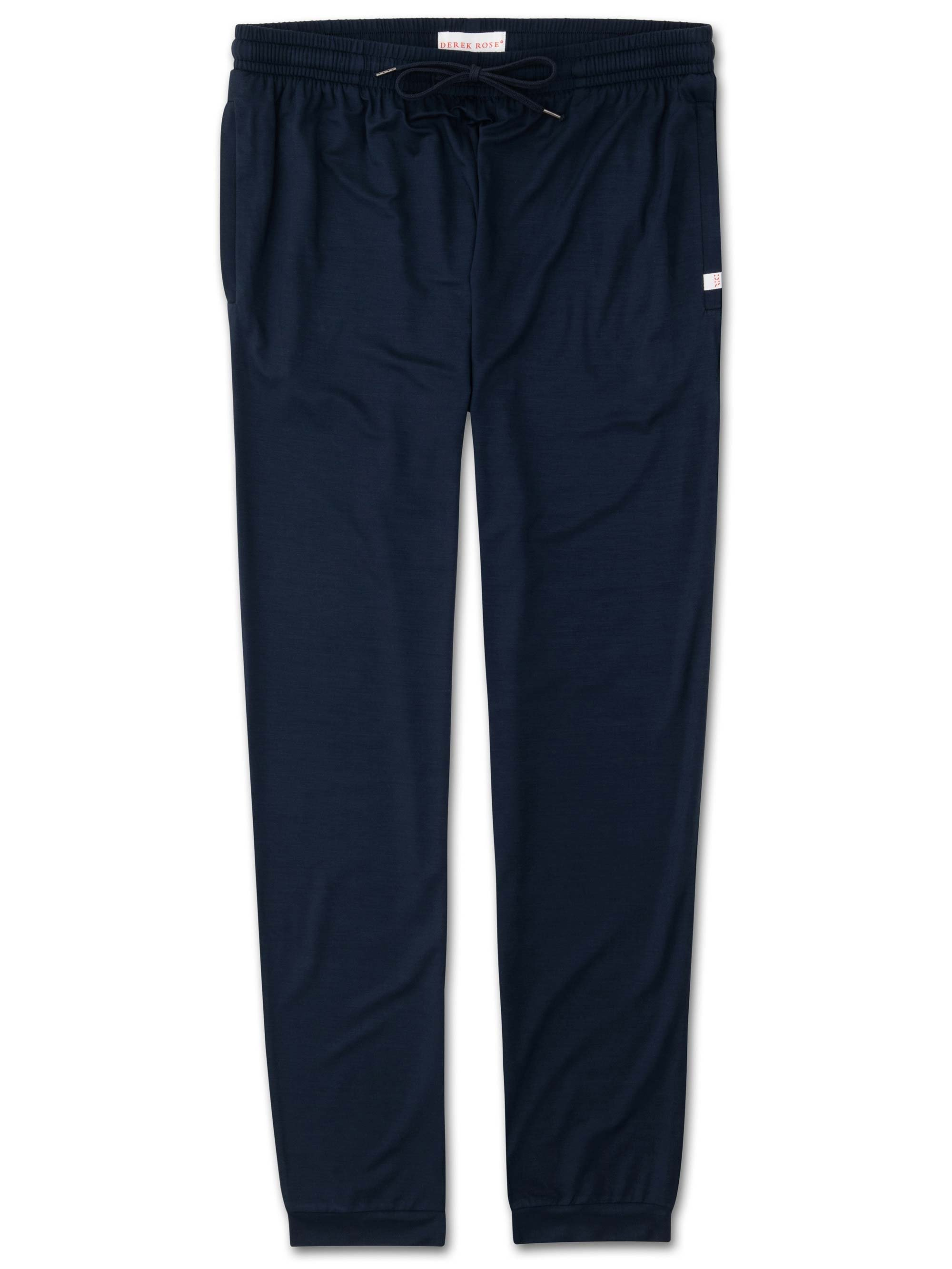 Men's Jersey Track Pants Basel Micro Modal Stretch Navy