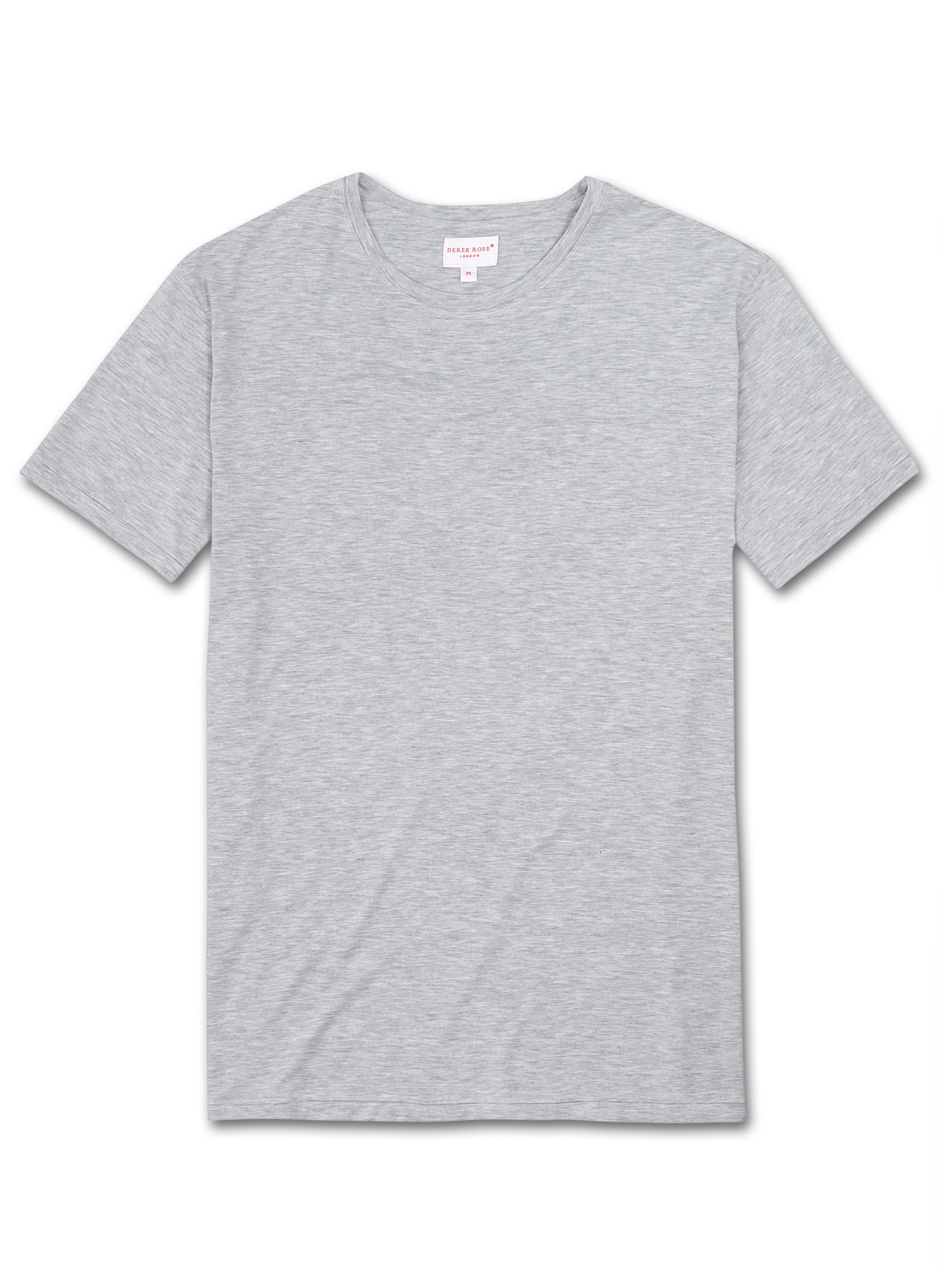 Men's Short Sleeve T-Shirt Ethan Micro Modal Stretch Silver