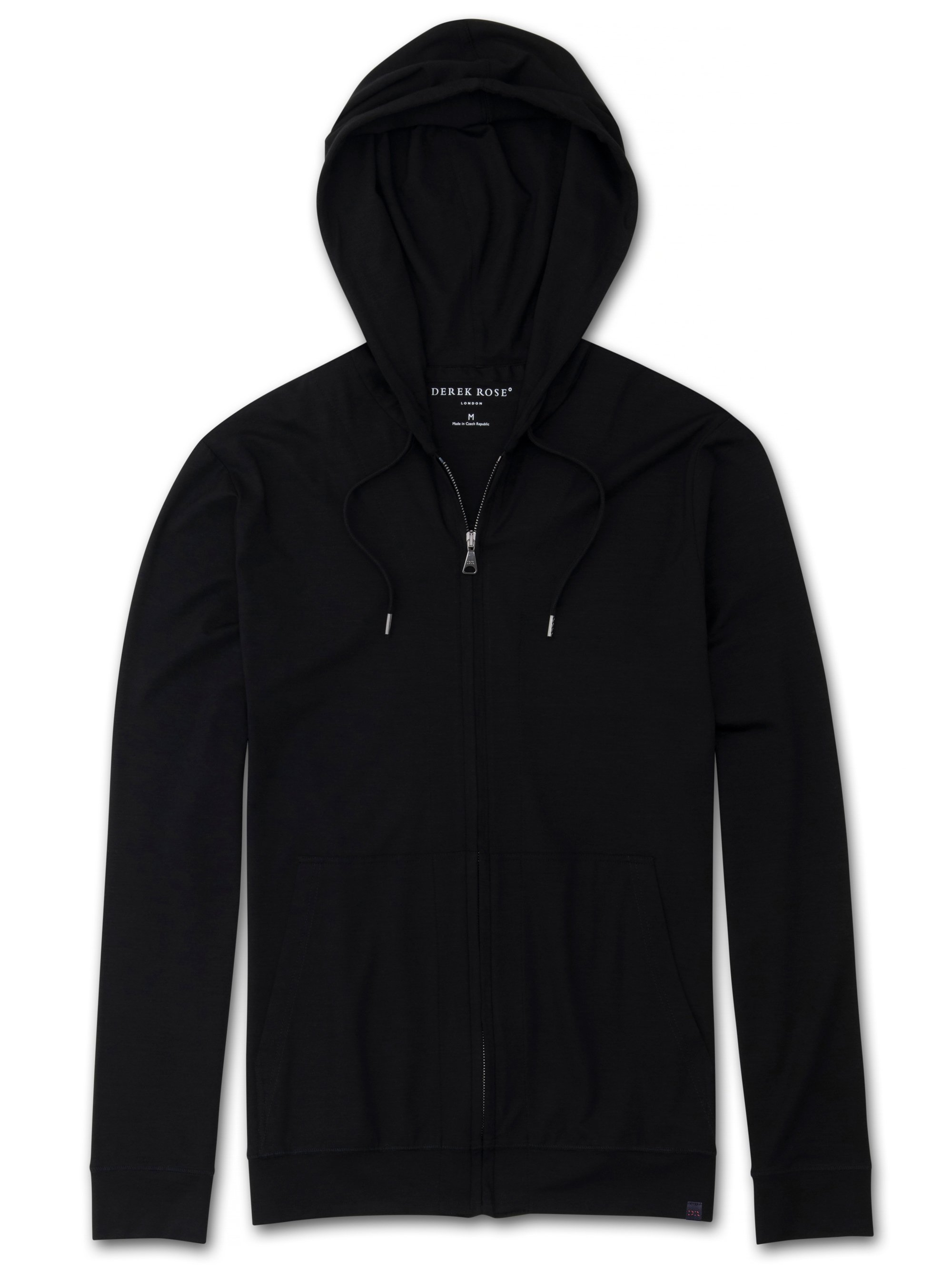 Men's Jersey Hoodie Basel Micro Modal Stretch Black