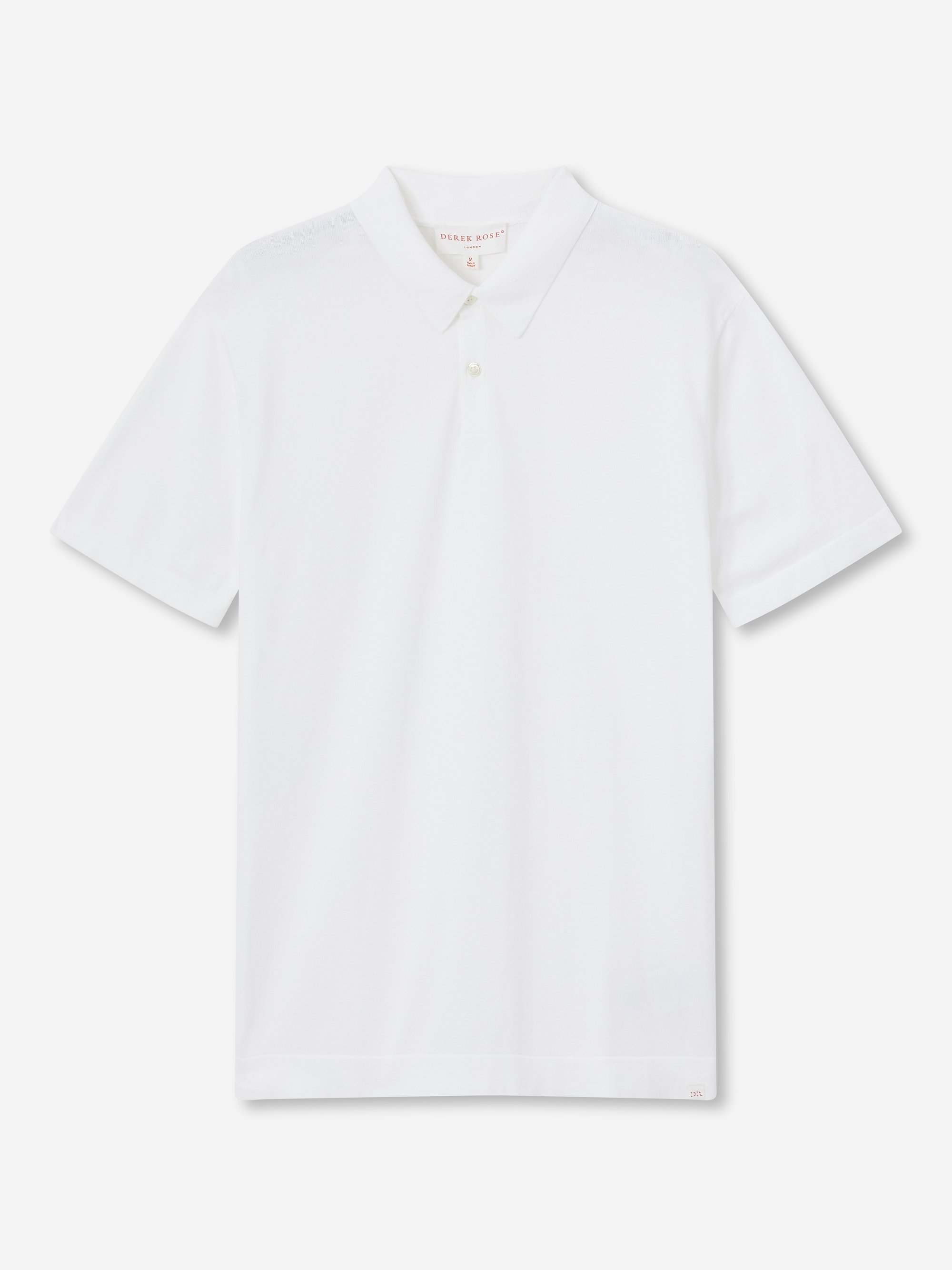 Men's Short Sleeve Polo Shirt Jacob Sea Island Cotton White