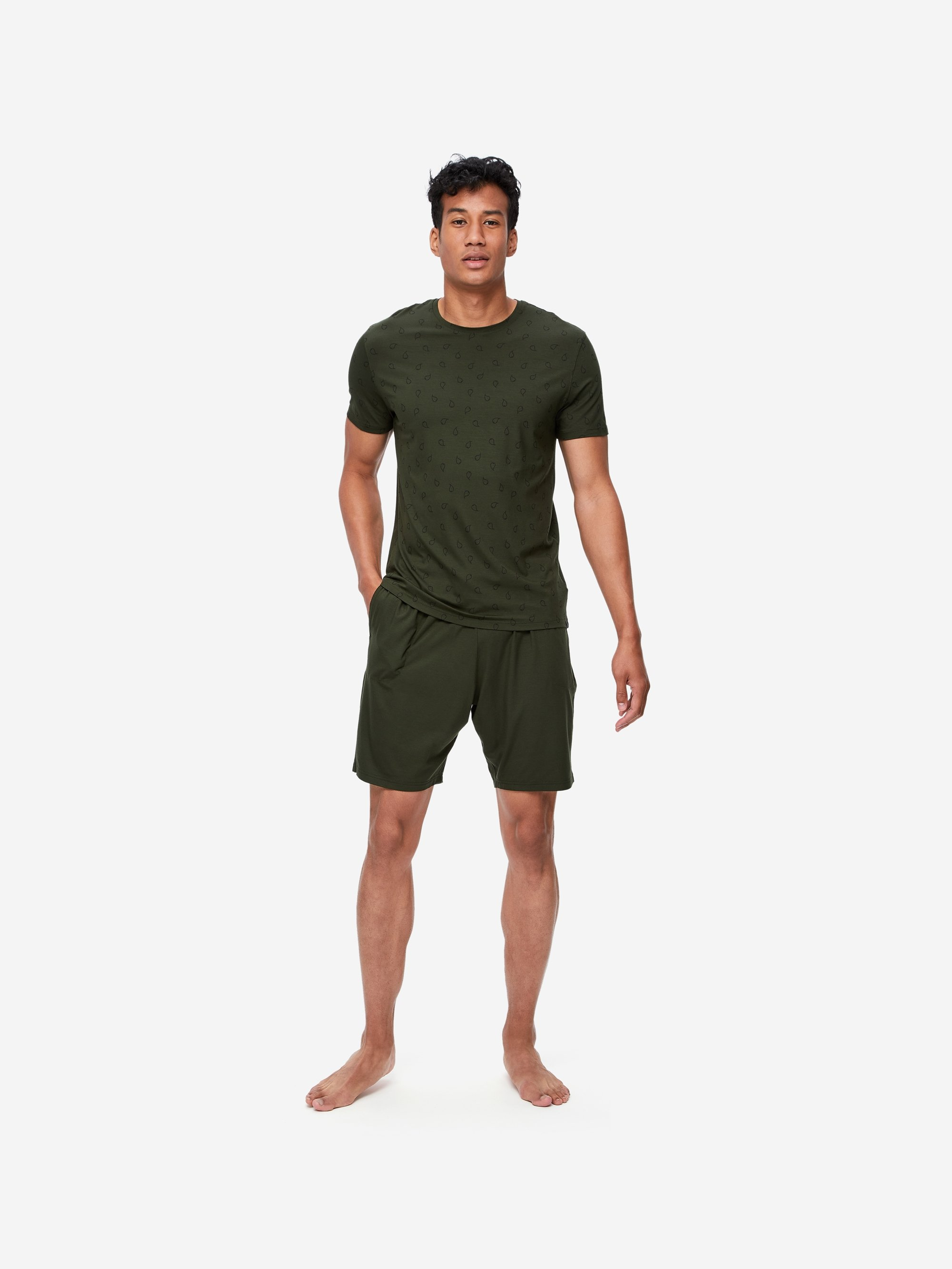 Men's Jersey Shorts Basel 9 Micro Modal Stretch Green