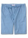 Men's Lounge Shorts Ledbury 34 Cotton Batiste Blue