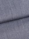 Men's Smoking Jacket Lincoln 11 Pure Wool Herringbone Navy