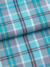 Men's Lounge Trousers Barker 18 Cotton Check Teal