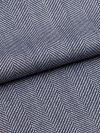 Men's Tasseled Belt Dressing Gown Lincoln 11 Pure Herringbone Wool Navy