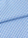 Men's Modern Fit Boxer Shorts Gingham Cotton Check Blue