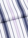 Women's Pyjamas Milly 7 Cotton Full Satin Stripe White