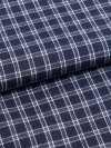 Men's Lounge Trousers Braemar 32 Brushed Cotton Check Navy