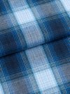 Women's Dressing Gown Ranga 36 Brushed Cotton Check Blue