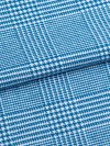 Men's Piped Dressing Gown Kelburn 6 Brushed Cotton Check Ocean