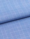 Men's Classic Fit Piped Pyjamas Felsted 3 Pure Cotton Check Blue