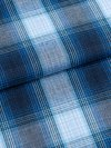Men's Lounge Trousers Ranga 36 Brushed Cotton Check Blue