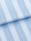 Men's Classic Fit Boxer Shorts Mayfair 74 Cotton Satin Stripe Blue
