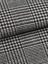 Men's Tasseled Belt Dressing Gown Lincoln 12 Pure Herringbone Wool Check Black