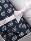Handkerchief Set Pack 136 Nelson 64 Navy & Plain White