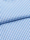 Men's Classic Fit Boxer Shorts Gingham White Band Pure Cotton Check Blue