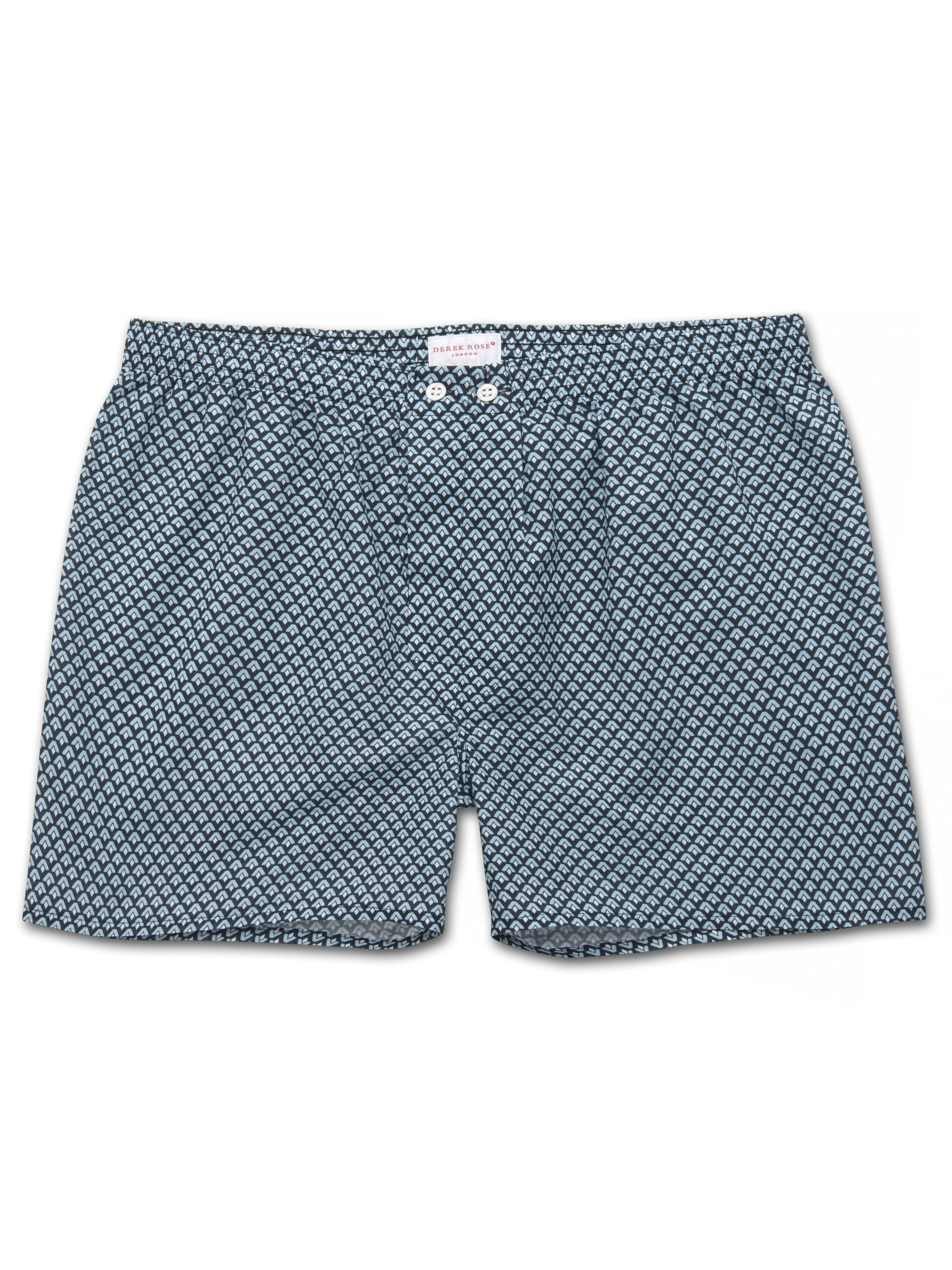 Men's Classic Fit Boxer Shorts Ledbury 31 Cotton Batiste Navy