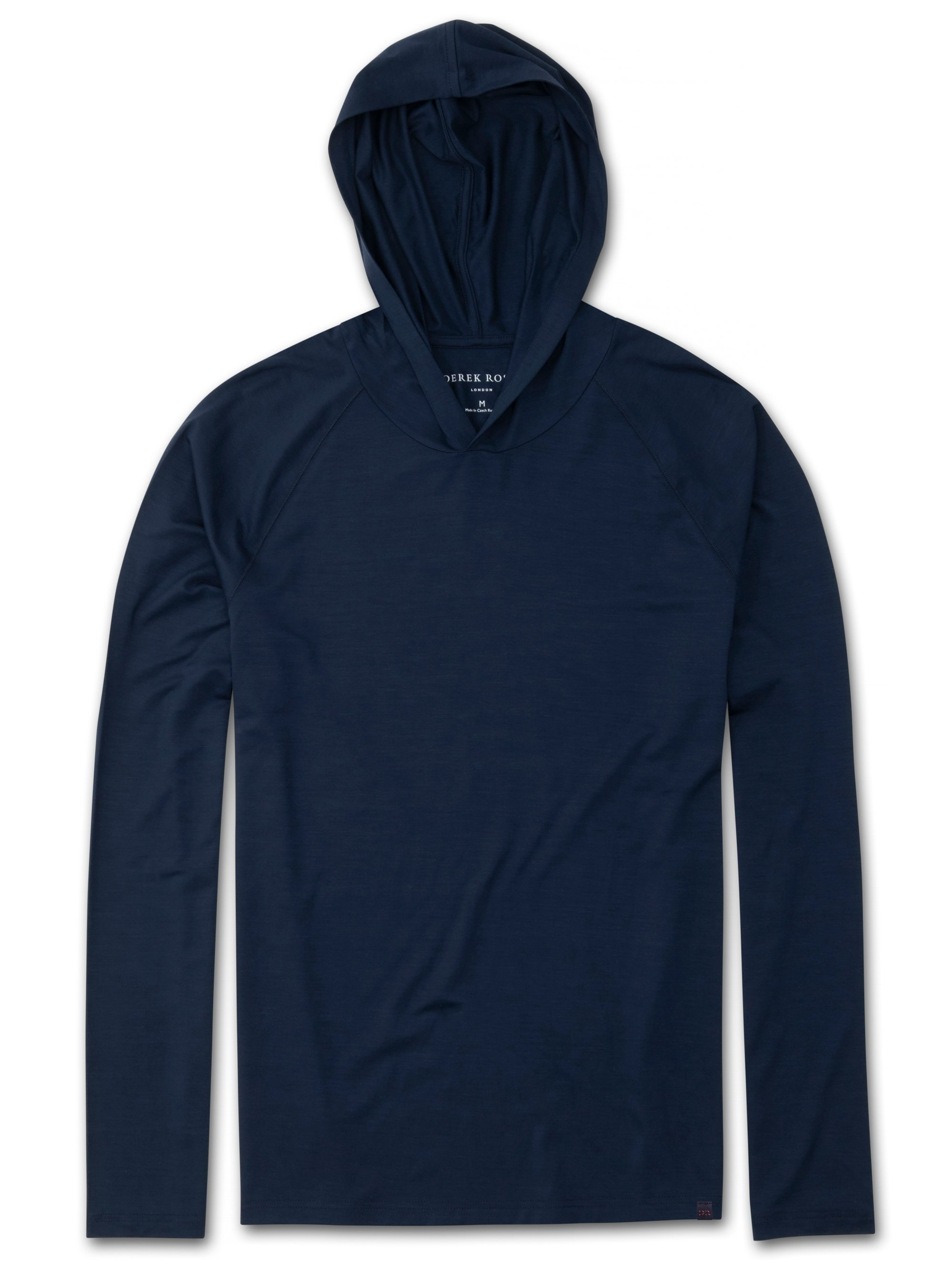 Men's Jersey Pullover Hoodie Basel Micro Modal Stretch Navy