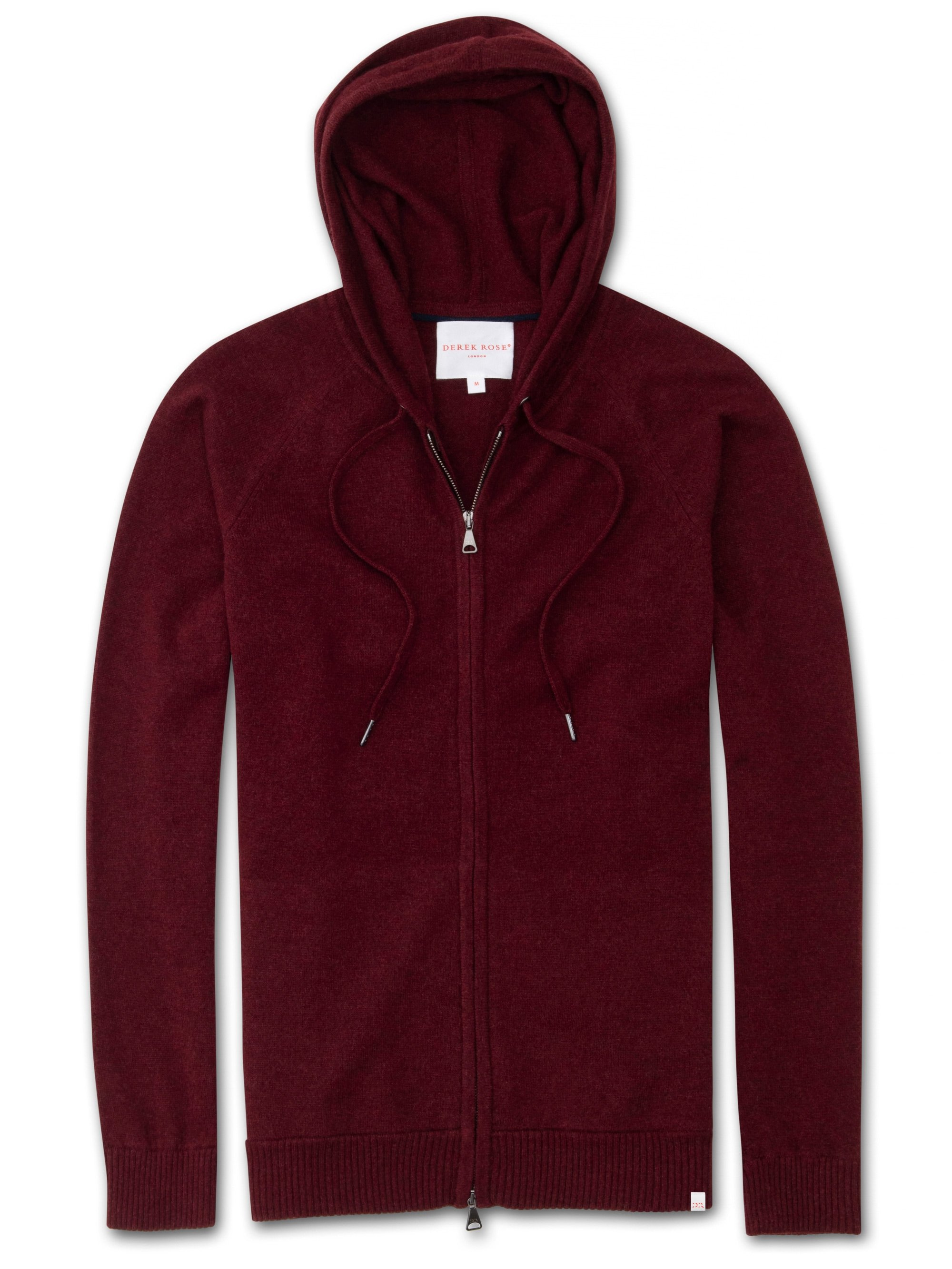 Men's Cashmere Hoodie Finley 2 Pure Cashmere Burgundy