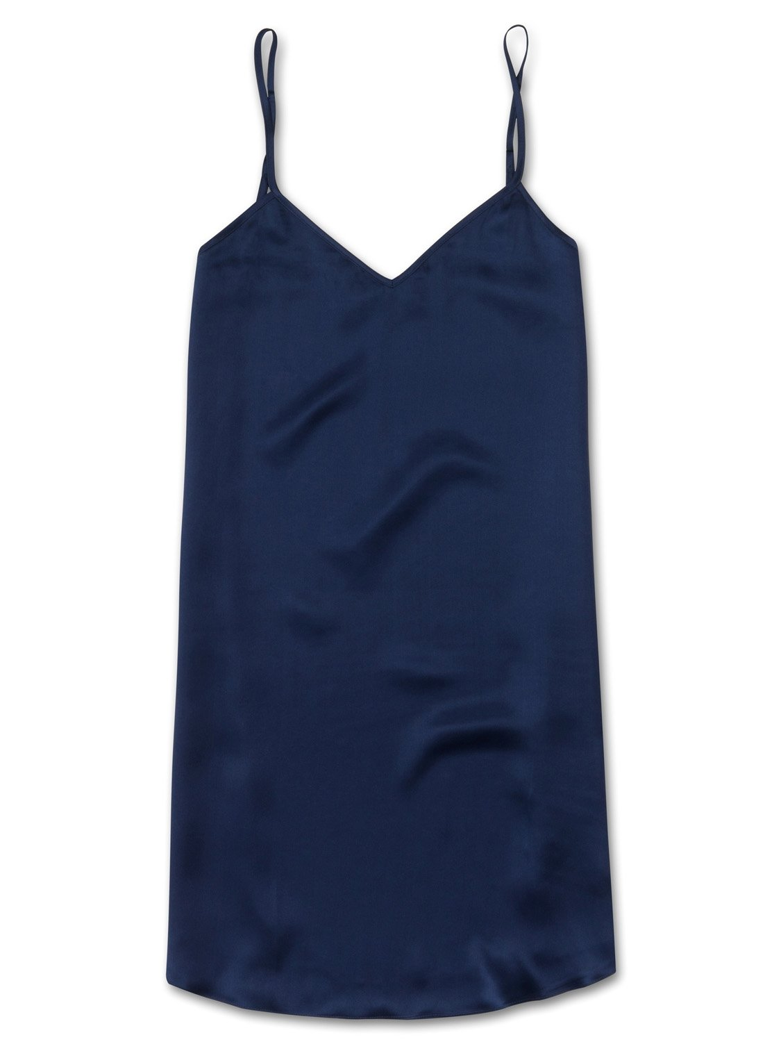 Women's Chemise Bailey Pure Silk Satin Navy