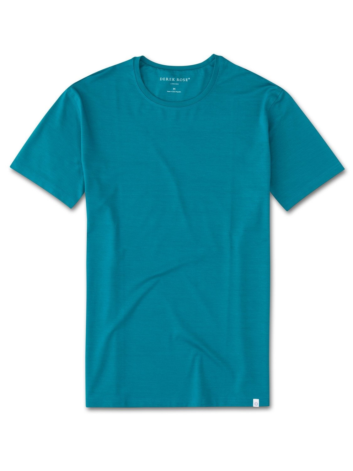 Men's Short Sleeve T-Shirt Basel 4 Micro Modal Stretch Teal