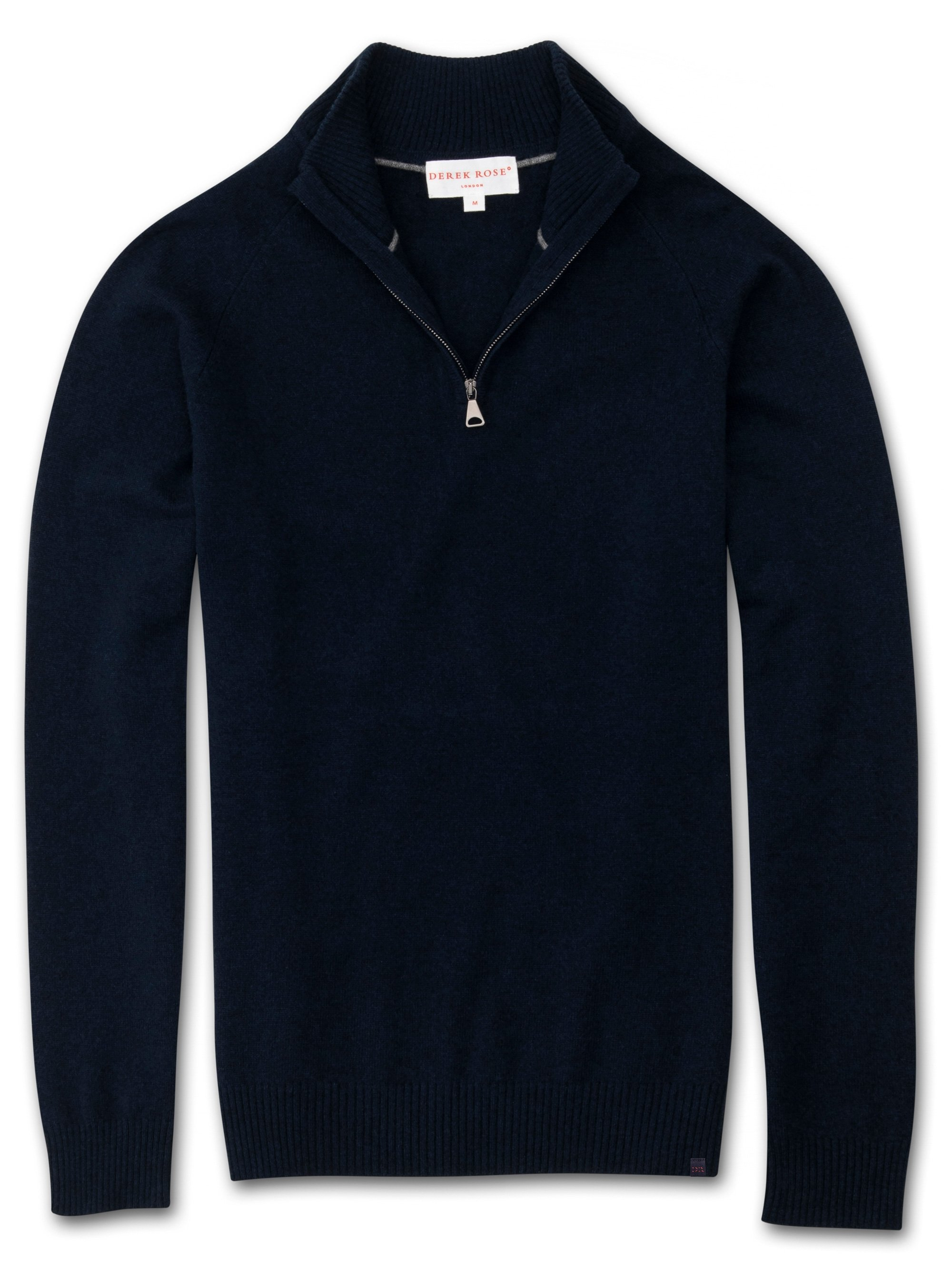 Men's Cashmere Half-Zip Sweater Finley 2 Pure Cashmere Navy
